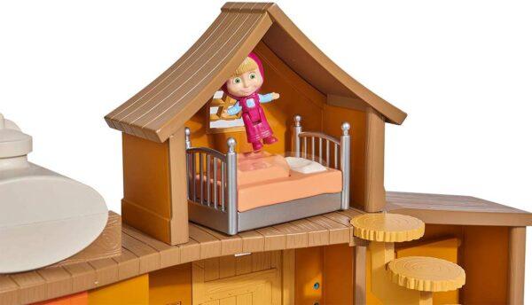 Casa Grande di Masha e L' Orso con Personaggi 35 x 22 x 11 cm