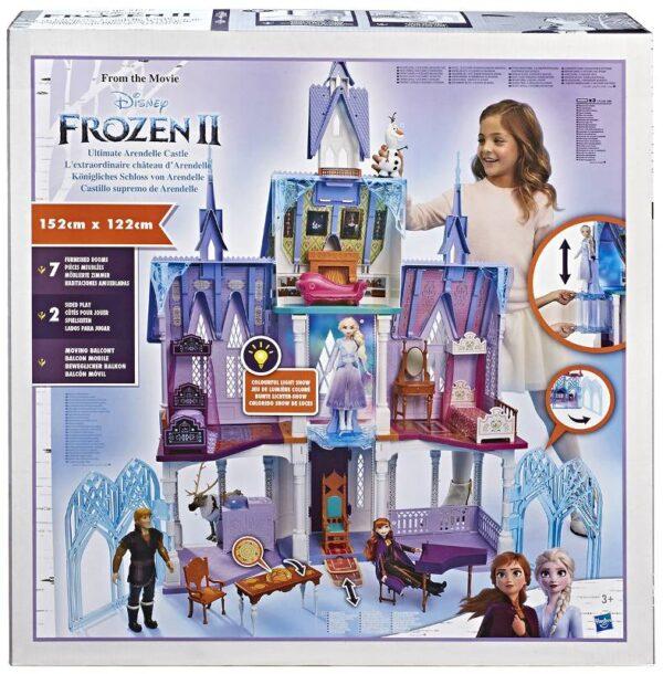 Disney Frozen - Castello di Arendelle deluxe con luci, terrazzo mobile e suoni (alto 1.5m, ispirato al film Frozen 2)