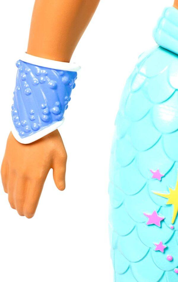 Barbie Ken Tritone dei Mari, Bambola Bionda con Coda