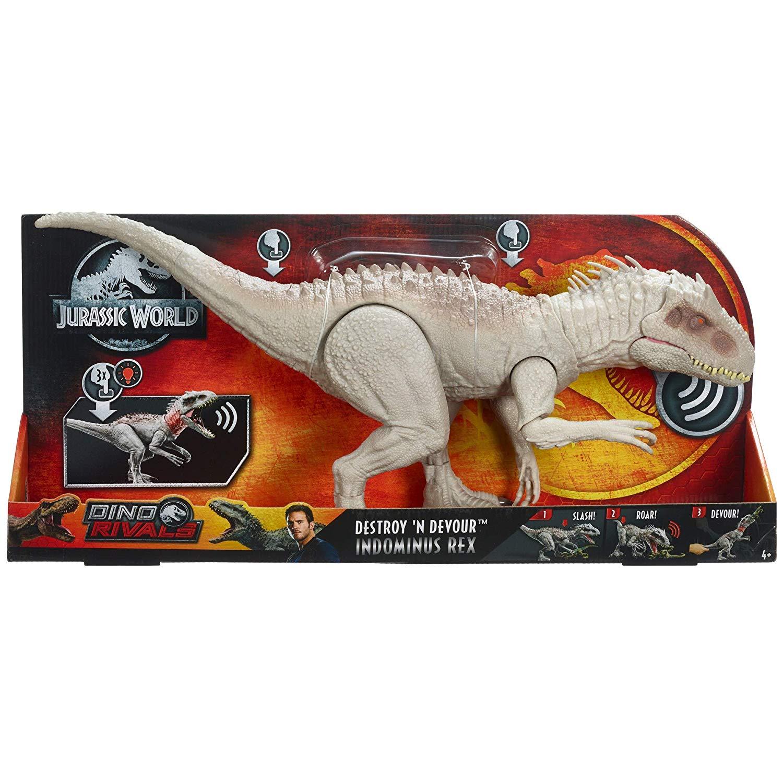 Jurassic world- indominus rex dinosauro con luci e suoni - Jurassic World