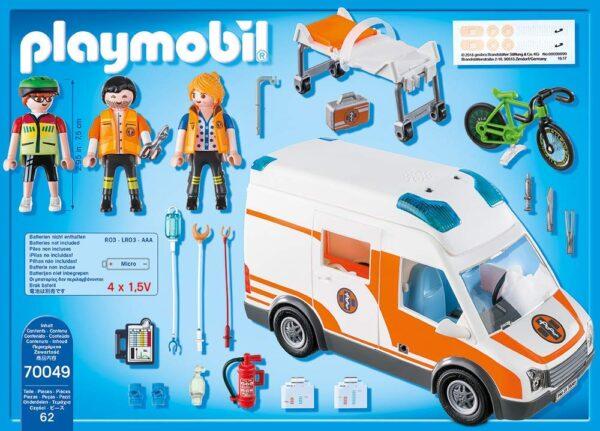 Playmobil 70049 - Ambulanza con Luci Lampeggianti - Costruzioni