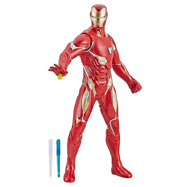 Marvel Avengers Avengers: Endgame - Iron Man con getto repulsore (Action Figure interattiva elettronica con 20 suoni e frasi in inglese, 33 cm)