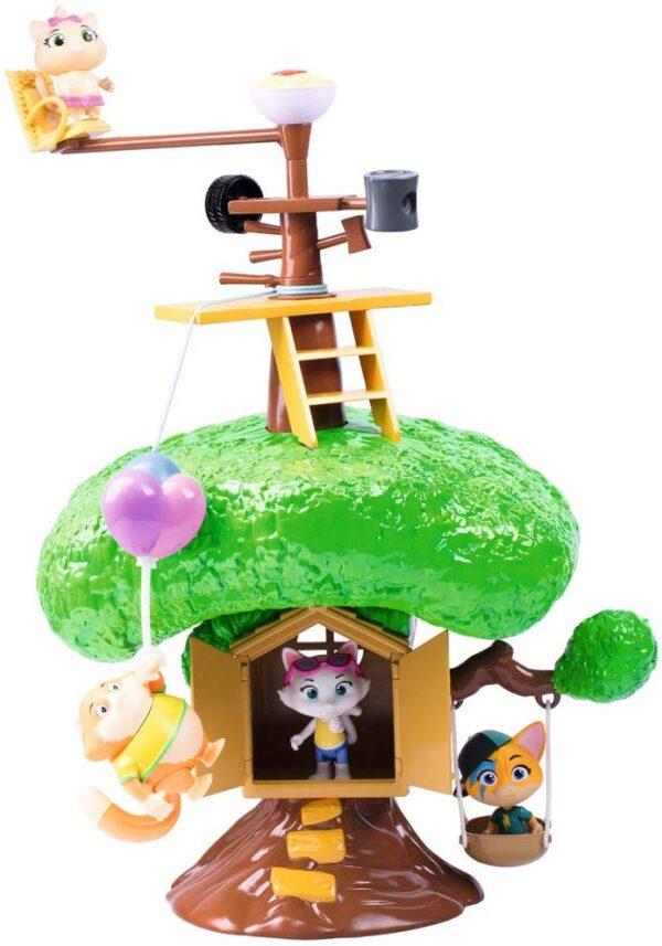Smoby-44 Gatti-Playset casa sull'albero con Personaggio Incluso, Colore, 7600180204