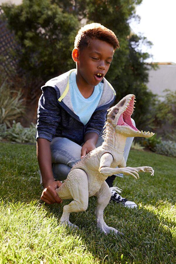 Jurassic World- Indominus Rex Dinosauro con Luci e Suoni