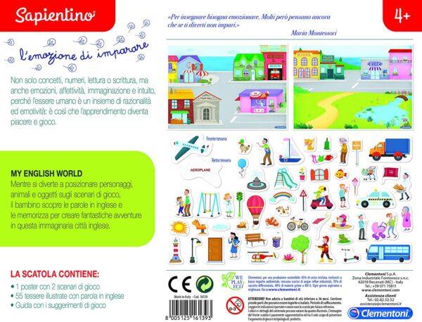 Clementoni-16139-Sapientino-My English World, Gioco educativo, Multicolore, 16139
