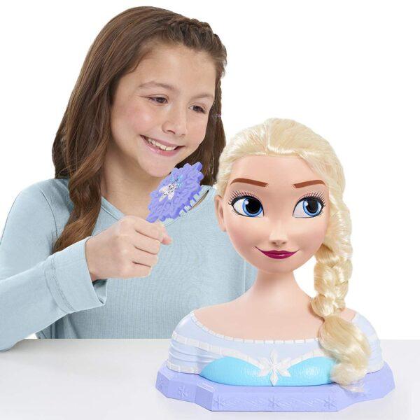 Grandi Giochi FRN79000, Frozen Deluxe Elsa Styling Head, Multicolore