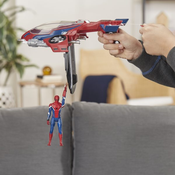 Spider-Man: Far from Home - Spider-Man con Spider-Jet (Action Figure con veicolo, 15 cm)