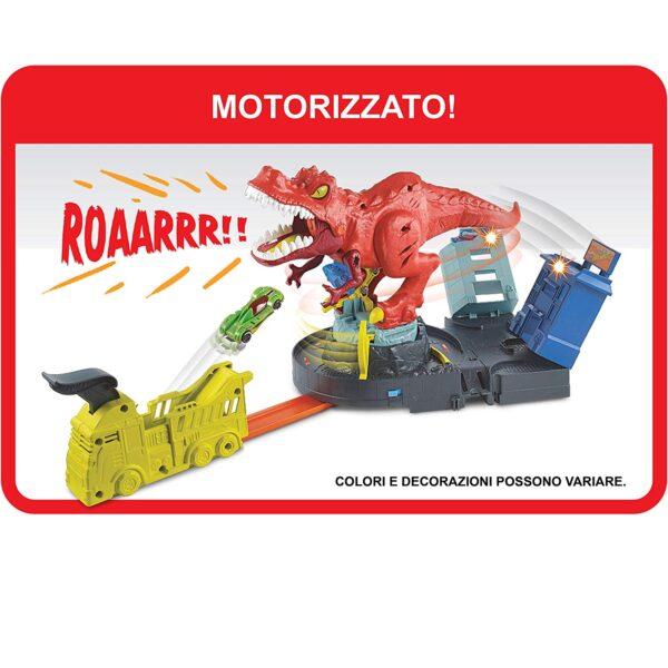 Hot Wheels- Rampa T-Rex, PlaySet con Lanciatore per Macchinine