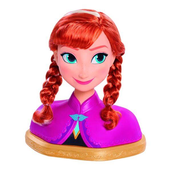 Grandi Giochi FRN80000, Frozen Deluxe Anna Styling Head, Multicolore