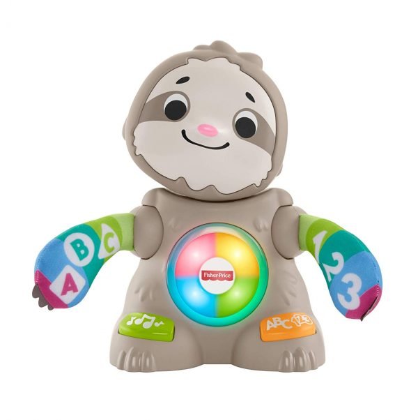 Fisher-Price- Parlamici Baby Bradipo Giocattolo Educativo con Luci, Suoni e Musica per Stimolare Il Bambino,