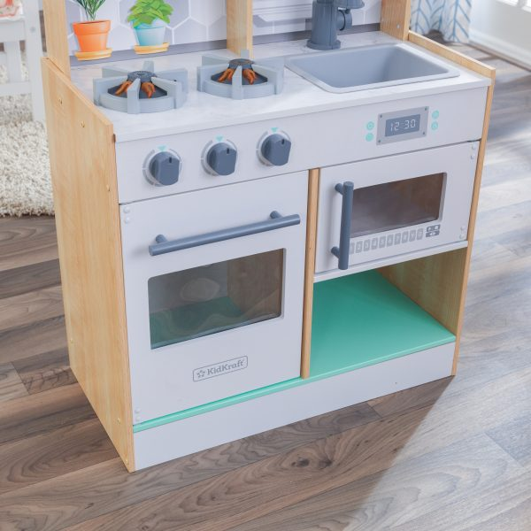 WOODEN PLAY KITCHEN FUNNY HOME