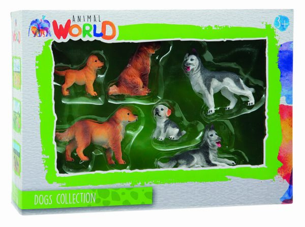 SET DOGS COLLECTION ANIMAL WORLD