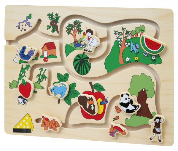 PUZZLE LABIRINTO IN LEGNO    WOOD'N PLAY