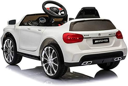 Macchina Elettrica per Bambini 12V Mercedes Benz GLA 45 AMG 12V Porte Apribili USB MP3 (Bianco)