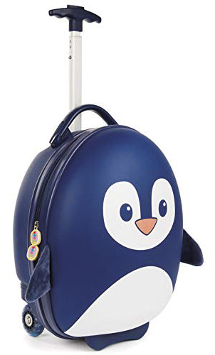 TROLLEY PINGUINO BLU BABY SMILE