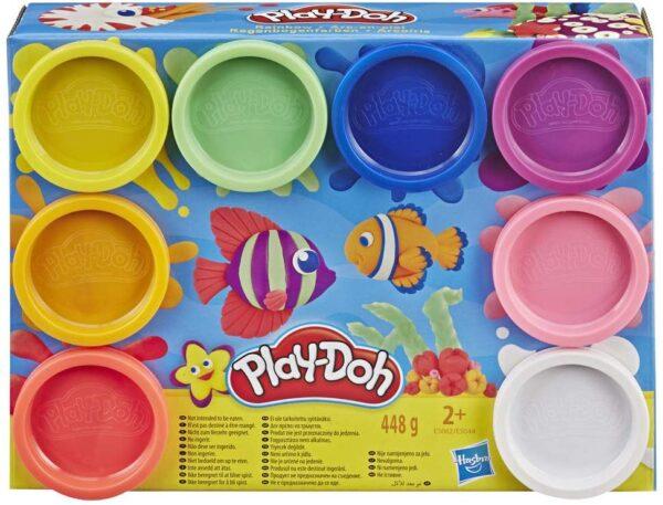 Play-Doh - Confezione da 8 vasetti di pasta da modellare