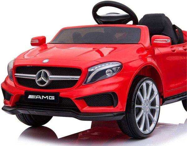 Macchina Elettrica per Bambini 12V Mercedes Benz GLA 45 AMG 12V Porte Apribili USB MP3 (Rossa)