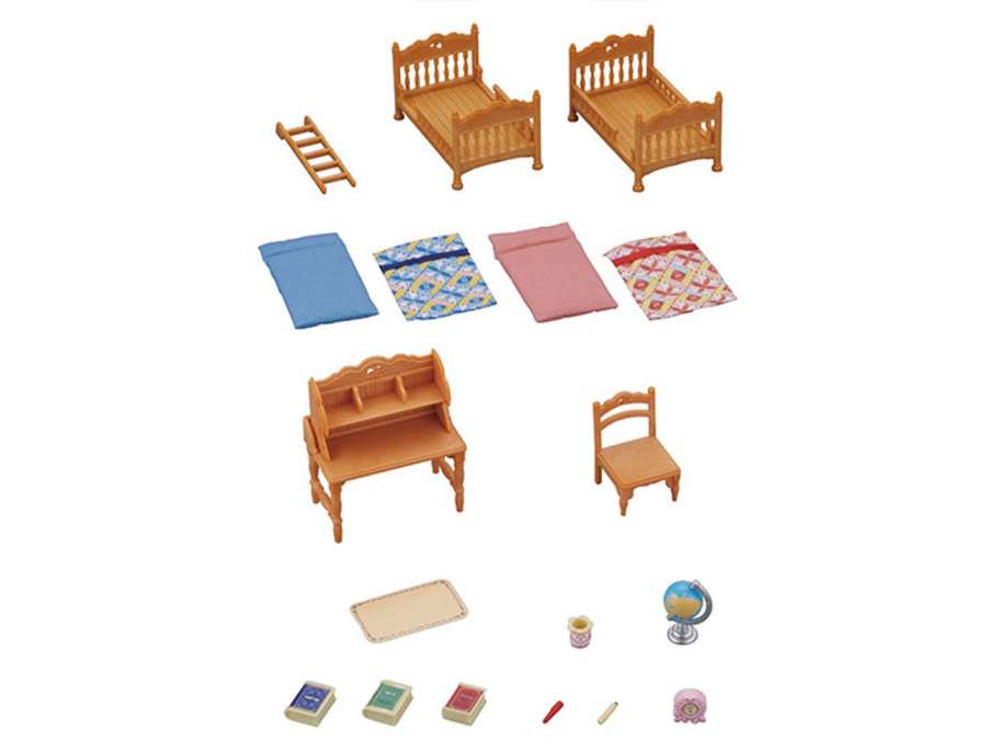 Sylvanian families - set cameretta bambini -