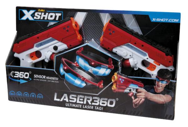 PISTOLA DARDI XSHOT LASER 360 - SUPERSTAR - Giochi per attività sportive