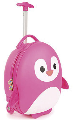 TROLLEY PINGUINO ROSA - BABY SMILE