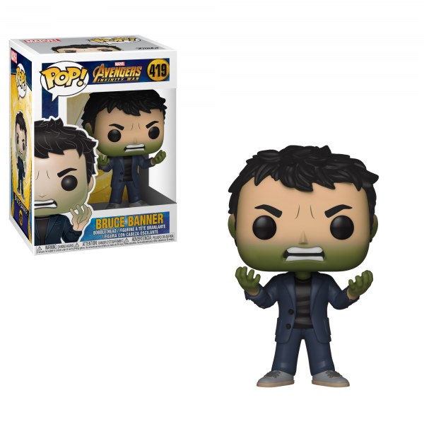 POP Marvel: Infinity War S2 - Banner w/ Hulk Head