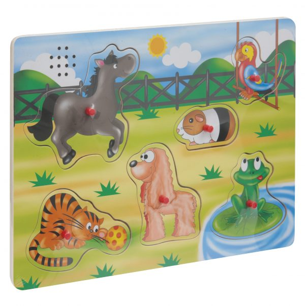 WOOD'N PLAY Puzzle in legno con suoni WOOD'N PLAY