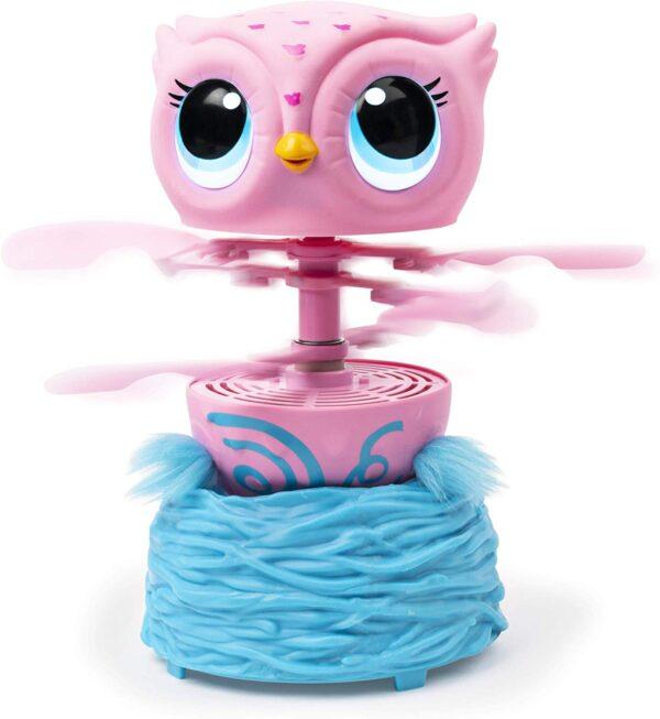 Owleez, Gufetto Rosa interattivo, vola per Davvero, dai 6 Anni, Multicolore, 6053359