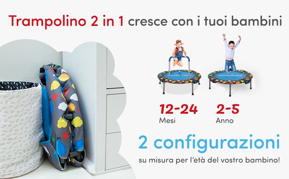 Smartrike trampolino folding 3 in 1 -