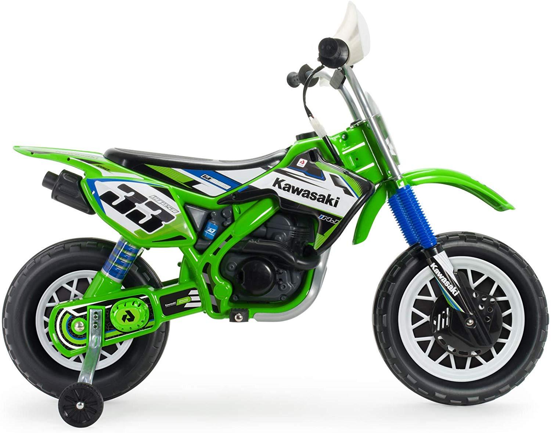 Moto kawasaki thunder max vx 12v, colore: verde/nero -