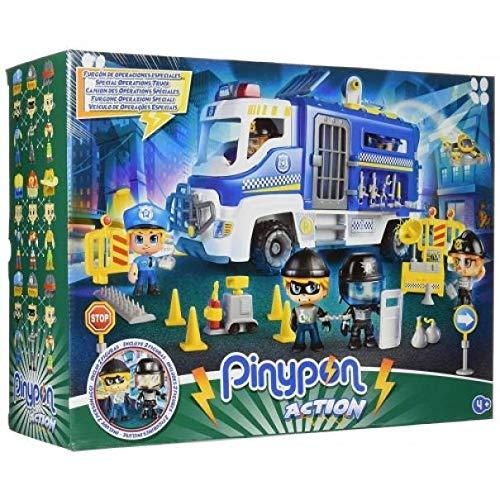 Giochi Preziosi Pinypon Action Camion Polizia con 2 Personaggi e Accessori