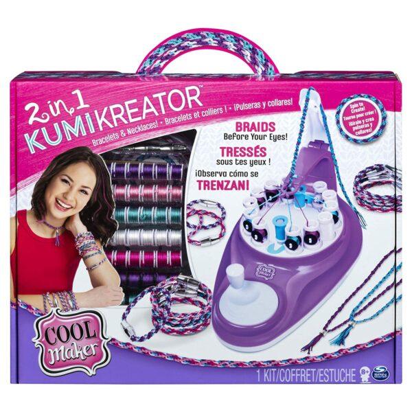 Cool Maker Kumikreator 2 in 1, Macchina Per Creare Braccialetti Dell'Amicizia e Collane, dagi 8 Anni in Su SPINMASTER