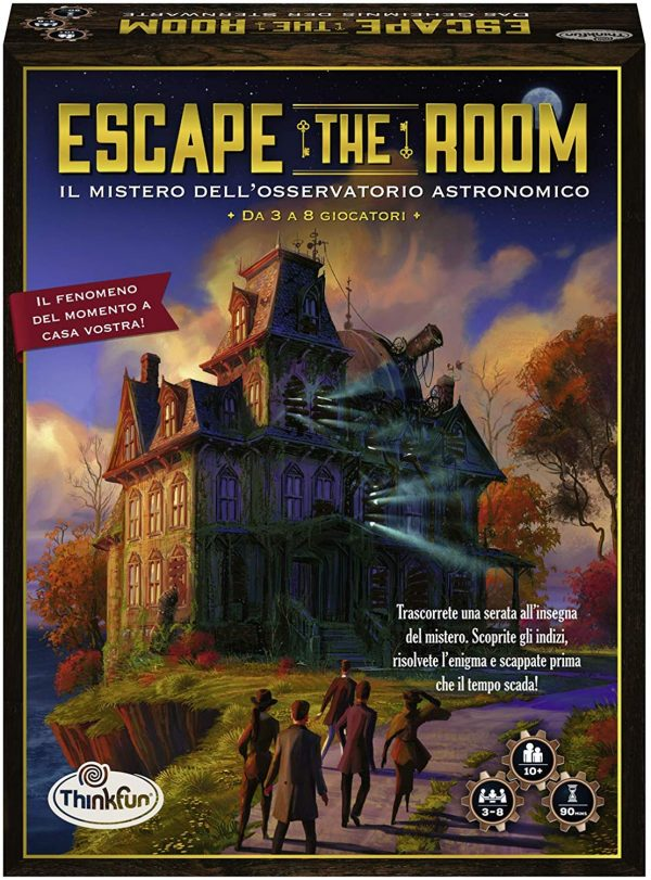 ThinkFun 76368 - Escape The Room-Il Mistero dell'Osservatorio, Gioco Mistero