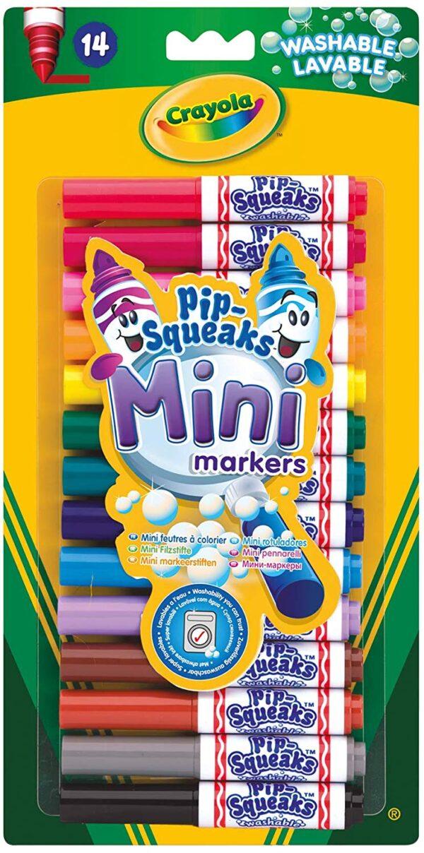 Crayola -14 Mini Pennarelli Lavabili, Formato Pocket, Punta Maxi, Colori Assortiti  Unisex 12-36 Mesi, 3-4 Anni, 3-5 Anni