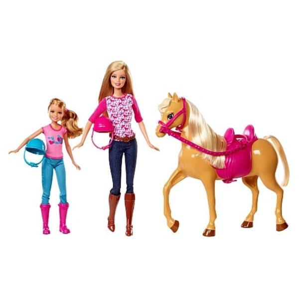 Barbie cct25–Camping di Divertimento Bambola e Cavallo    Barbie