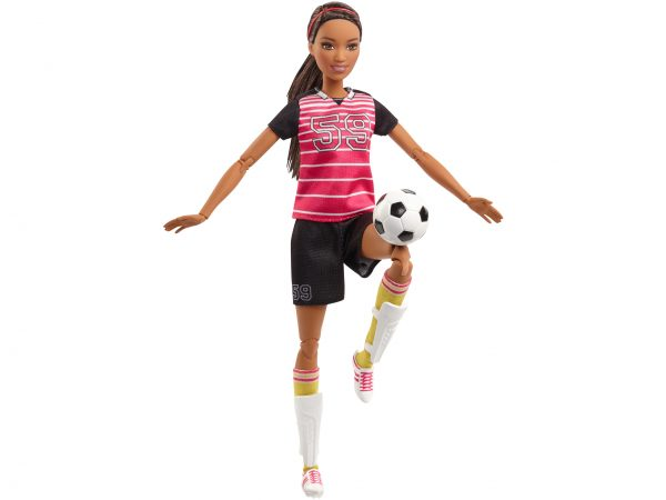 Barbie - Bambola Barbie Snodata Calciatrice Barbie Femmina 12-36 Mesi, 12+ Anni, 8-12 Anni ALTRI