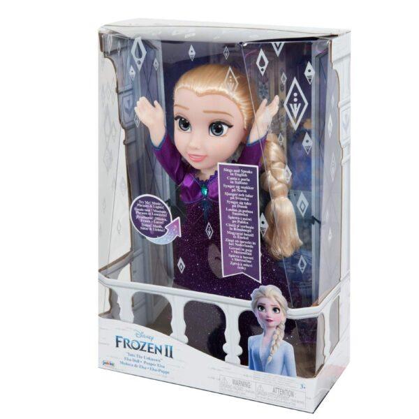 Frozen  Giochi Preziosi- Elsa Cantante con Luci e Suoni Bambola, Multicolore, FRN89000