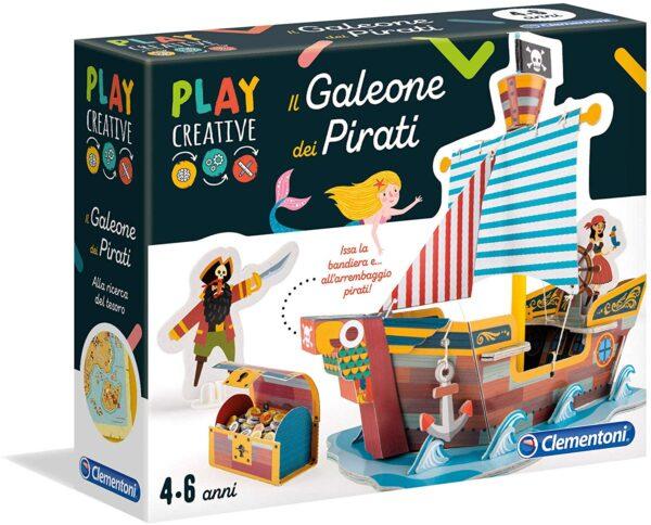 Clementoni  - 18549 - Play Creative - Il Galeone dei Pirati