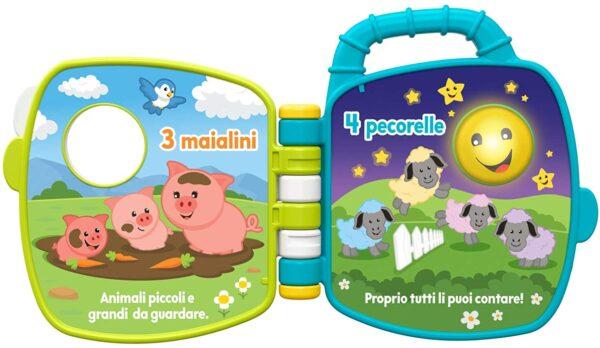 FISHER-PRICE  Fisher-Price Libro Degli Animali 123, Giocattolo per Bambini di 6 + Mesi per Imparare Parole, Lettere e Numeri, GFP34