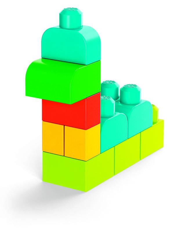 Mega Bloks Pacco Eco con 100 Blocchi da Costruzione, Stimola la creatività, 1+ Anni    MEGA BLOKS
