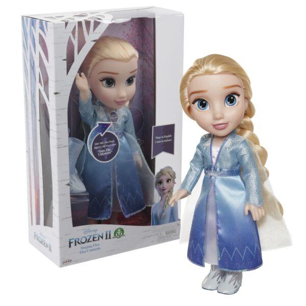 FROZEN 2 - Elsa Travel Doll Cantante  Femmina 3-4 Anni, 3-5 Anni, 5-7 Anni, 5-8 Anni