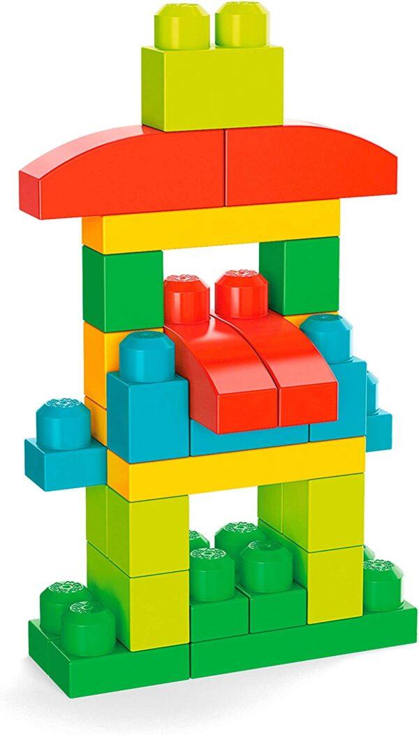 Mega Bloks Pacco Eco con 100 Blocchi da Costruzione, Stimola la creatività, Giocattolo per Bambini 1+ Anni, GFG21 MEGA BLOKS
