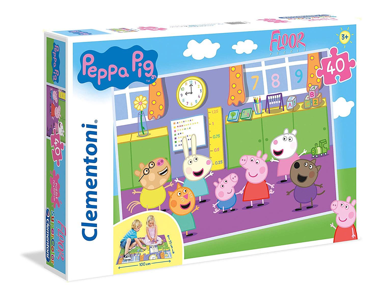 Clementoni - 25458 - puzzle da pavimento peppa pig -