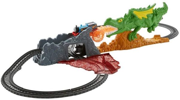 Fisher-Price Thomas & Friends Il Trenino Thomas, Fuga dal Dragone, Playset con Trenino Thomas Motorizzato e Pista, FXX66 FISHER-PRICE