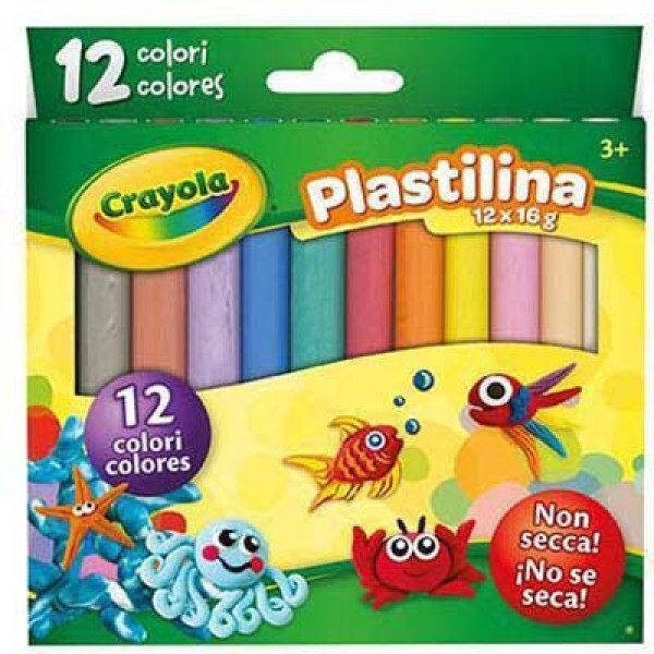 Plastilina colori assortiti CRAYOLA 12 pz CRAYOLA Unisex 3-4 Anni, 3-5 Anni, 5-7 Anni, 5-8 Anni