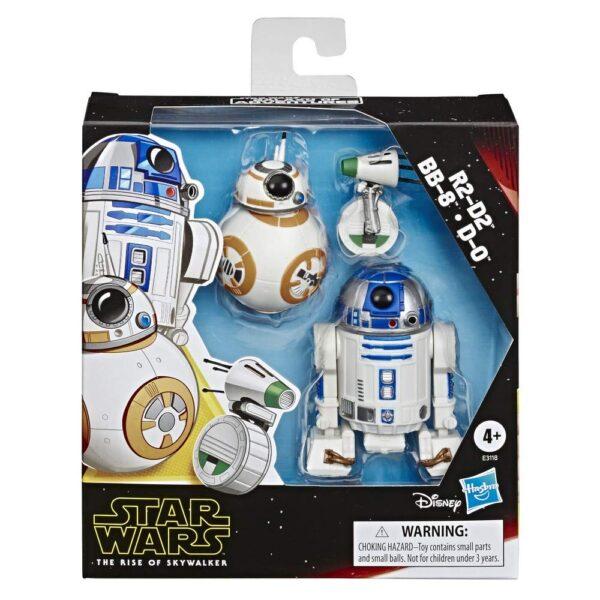 Star Wars Galaxy Of Adventures Confezione da 3 Action Figure Di R2-D2, Bb-8, D-O, Droidi Giocattolo