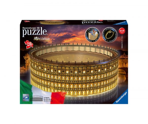 Ravensburger Colosseo Night Edition 3D Puzzle, Multicolore, 11148 RAVENSBURGER