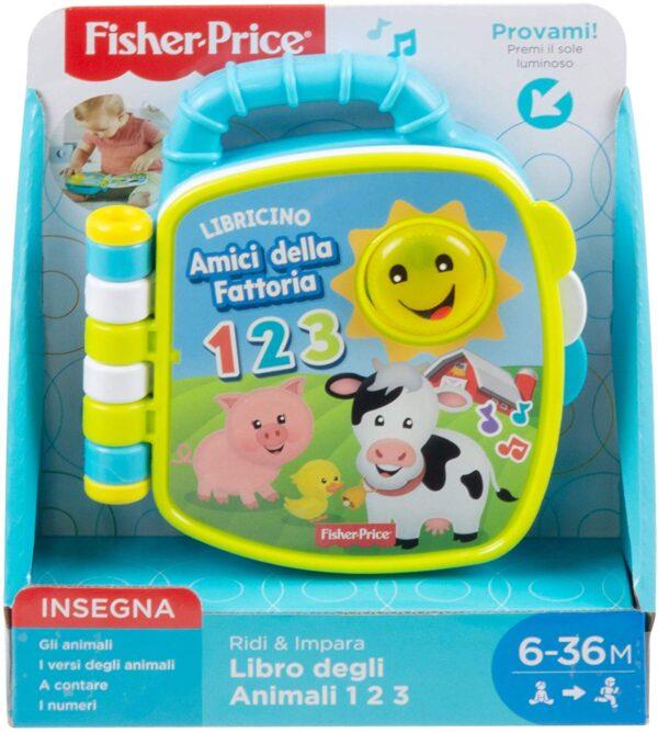 Fisher-Price Libro Degli Animali 123, Giocattolo per Bambini di 6 + Mesi per Imparare Parole, Lettere e Numeri, GFP34    FISHER-PRICE