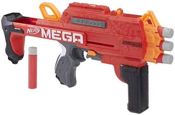 Hasbro Nerf Mega - Bulldog (blaster con dardi Accustrike)
