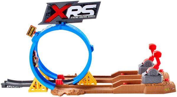 Disney Cars Pista Super Scontri XRS Mud Racing Playset per Macchinine con Veicolo Saetta McQueen Incluso, FYN85