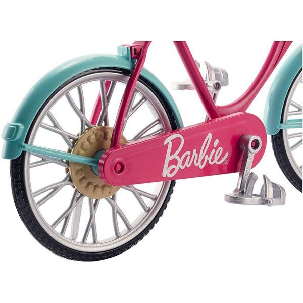 Barbie   Barbie Bicicletta per Bambole con Casco e Accessori
